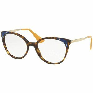 Prada Cat Eye Eyeglasses Havana W/Demo Lens